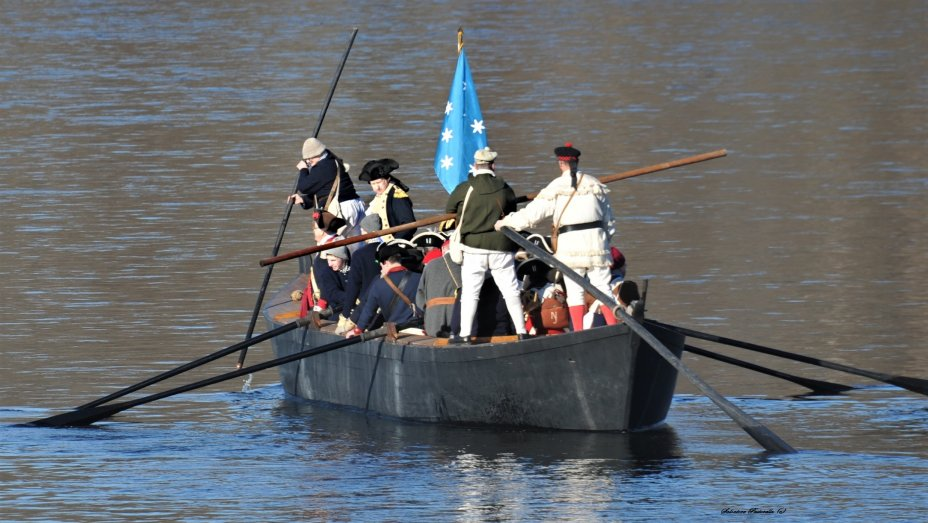 December 25 2016  George Washington Re-enact Crossing the Delaware River
