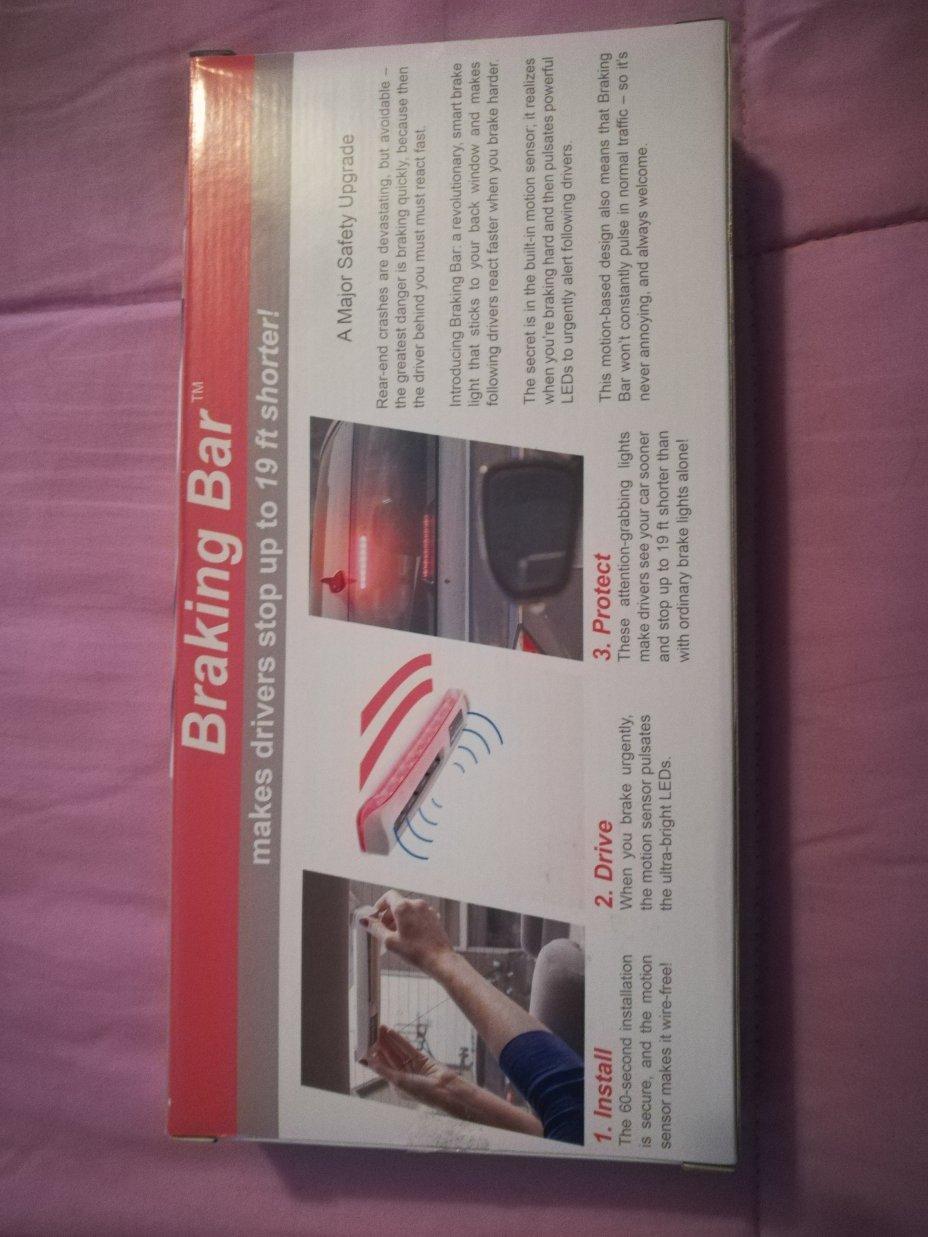 Braking Bar at the 2020 CES: Emergency Brake Light Product Review 2