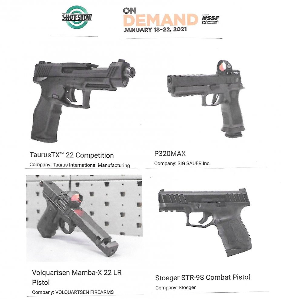 2021 NSSF Shot Show: ON DEMAND (January 18 to 22, 2021) 1