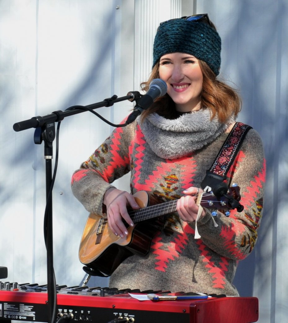 Lauren Marsh performs at Lawrence Township Event